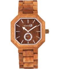 earth wood acadia wood bracelet watch olive 43mm