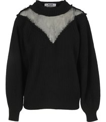 msgm tulle detail sweater
