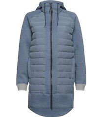 fære l hoodie gevoerde lange jas blauw kari traa
