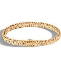 men's john hardy men's 18k small flat chain bracelet
