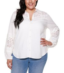 belldini black label plus size button front collared shirt
