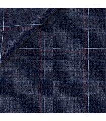 pantaloni da uomo su misura, vitale barberis canonico, leggerissimi blu quadri, primavera estate | lanieri