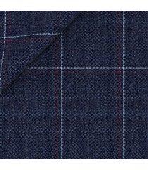 giacca da uomo su misura, vitale barberis canonico, leggerissimo blu quadri, primavera estate