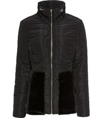 giacca con ecopelliccia (nero) - bodyflirt