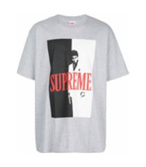 supreme scarface split t-shirt - cinza