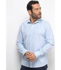 camisa forum manga longa xadrez slim masculina