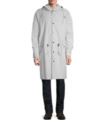 drawcord hooded coat