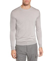 men's eleventy merino wool & silk tipped sweater