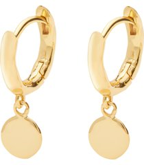 women's gorjana luca disc huggie hoop earrings