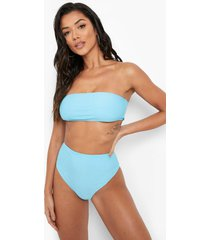 gerecyclede bandeau bikini top, blue