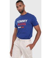 camiseta azul-blanco-rojo tommy jeans
