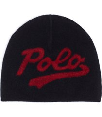 polo ralph lauren men's felted logo beanie