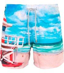 pantaloneta azul steam beach life