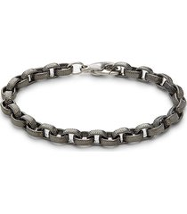 effy men's black rhodium-plated sterling silver bracelet