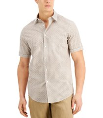 tasso elba men's geo petal print shirt, created for macy's
