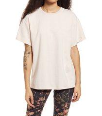 afrm bacio oversize tunic t-shirt, size medium in blush at nordstrom