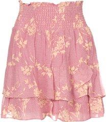 rok met bloemenprint mories  roze