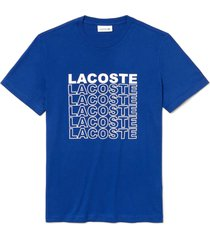 camiseta lacoste azul - azul - masculino - dafiti