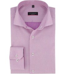 eterna overhemd modern fit roze print