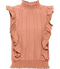top in jersey (arancione) - bodyflirt