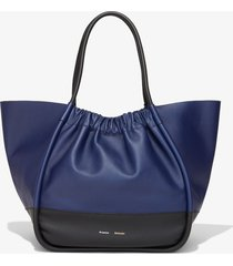 proenza schouler xl colorblock ruched tote black/blue one size