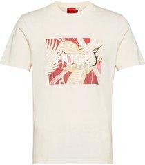 dolive_u213 t-shirts short-sleeved creme hugo
