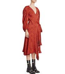 jaquard side-tie midi dress