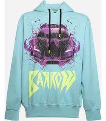 barrow cotton sweatshirt with maxi contrasting print