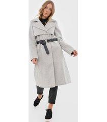 casaco sobretudo lez a lez liso cinza - cinza - feminino - poliã©ster - dafiti