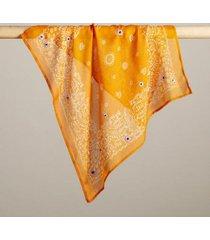 sundance catalog women's chamomile blossom bandana in incagold
