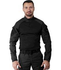 camiseta treme terra combat shirt preta - preto - masculino - dafiti