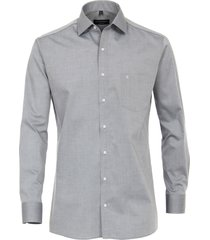 casa moda heren overhemd lichtgrijs poplin ml6 modern fit