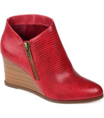 journee collection women's glam wedge bootie women's shoes