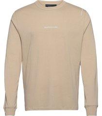 m stowaway ls tee t-shirts long-sleeved beige peak performance