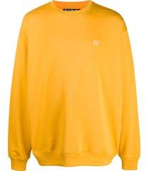 acne studios oversized long-sleeve sweatshirt - yellow