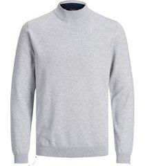 trui jack & jones 12180060 jprblacamp knit high neck cool grey/melange