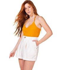 shorts linho serinah feminino