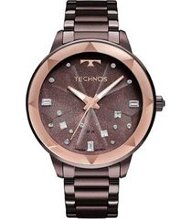 relógio technos elegance crystal feminino