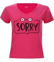 camiseta descanso sorry color rosado, talla l