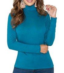 blusa iron azul petroleo para mujer croydon