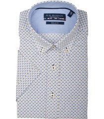 bos bright blue korte mouw blouse 106670/209