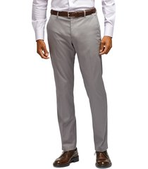 men's big & tall bonobos stretch weekday warrior slim fit dress pants, size 36 x 36 - grey