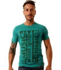 camiseta oitavo ato music mix mint green - kanui