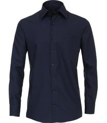 casamoda overhemd donker comfort fit kent non iron blauw