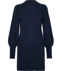 nubella dress stickad tröja blå nümph