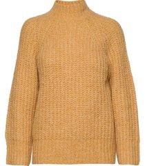 canis knit o-neck stickad tröja gul second female