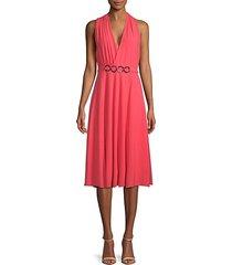 surplice knee-length dress