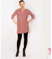 zwangerschapsjurk voedingsjurk pink dots