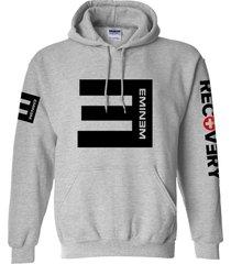 eminem hoodie grey unisex top adult cotton blend pullover fleece sweatshirt