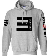 eminem hoodie grey unisex top adult cotton blend pullover fleece sweatshirt